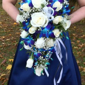 Blue Orchid Brides Bouquet
